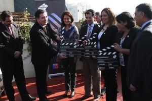 Ministro con alcaldes sello Film Friendly