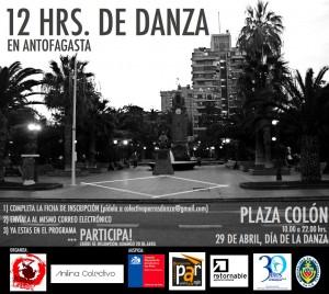 AFICHE OFICIAL_12 HORAS DE DANZA_ANTOFAGASTA 2014