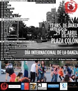 Afiche 12 horas de Danza
